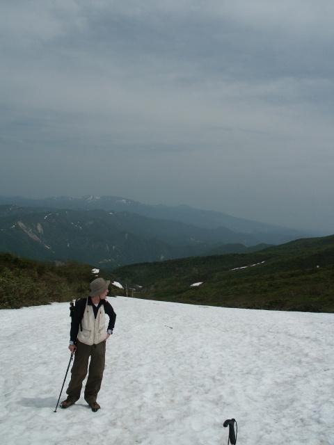 須川コースの雪渓.JPG